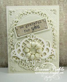 Spellbinders-Floral Ovals & Fancy Lattice,