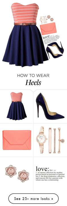 """""""Без названия #729"""" by songjieun on Polyvore featuring Christian Louboutin, WALL, Senreve and Anne Klein How To Wear Heels, Anne Klein, Christian Louboutin, Ballet Skirt, Shoe Bag, Polyvore, Wall, Skirts, Outfits"""
