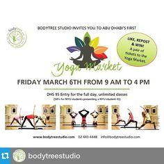 Who is going?? #Repost @bodytreestudio ・・・ #WIN 2 Free tickets to the #yogamarket this Friday. Simply like & repost this entire post! That's it! #bodytreestudio #goodluck