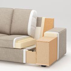 KIVIK Sectional, corner, with chaise/Skiftebo dark gray - IKEA Ikea Kivik, U Shaped Sofa, Loveseat Covers, Ikea Family, Sofa Frame, Corner Sofa, Fabric Sofa, Sectional Sofa, Seat Cushions