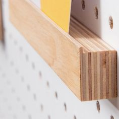 Buy Block PegBoard Accessories - Picture Ledge from our Peg Boards & Memo Boards range at Red Candy, home of quirky decor. Large Pegboard, Pegboard Display, Wooden Pegboard, Kitchen Pegboard, Picture Shelves, Picture Ledge, Display Design, Design Shop, Home Office Accessories