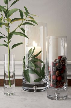 Direction Tall Vase - Crate and Barrel Tall Vases, Bud Vases, Flower Vases, Vase Centerpieces, Vases Decor, Decorating With Glass Vases, Table Centerpieces For Home, Winter Centerpieces, Decorating Ideas