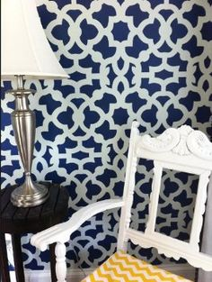 Amazon.com: Moroccan Stencil Zamira - Long version - reusable stencil patterns for walls just like wallpaper - DIY decor: Home Improvement