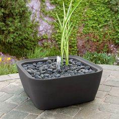 Akro-Mils Garden 365 24 in. Square Elevated Planter Graphite, Durable