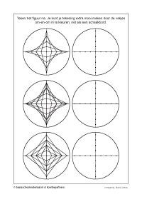 gratis lesmateriaal Line Art Projects, Science Projects, Line Art Lesson, Opt Art, Art Handouts, String Art Templates, Graph Paper Art, Embroidery Cards, Geometry Pattern