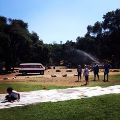 We miss the slip and slide in all this heat!