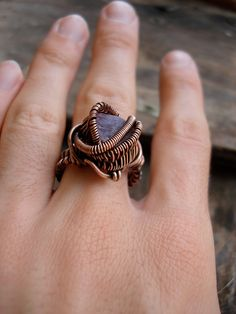 Copper Wrapped // Antiqued // Raw Ruby // Wire by Magickwrapper, $63.00