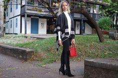 Look Outono/Inverno: Over The Knee + Poncho! | Blog da Ana