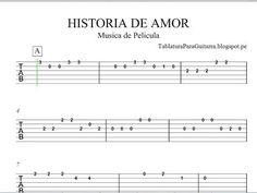 Historia de Amor (Love Story) - Tablatura para Guitarra - YouTube