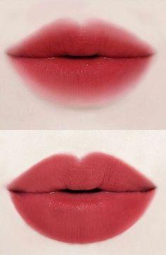 Lipstick - Makeup Tips Korean Makeup Tips, Korean Makeup Tutorials, Asian Makeup, Blusher Makeup, Makeup Eyeshadow, Makeup Inspo, Beauty Makeup, Lipstick Designs, Korean Make Up