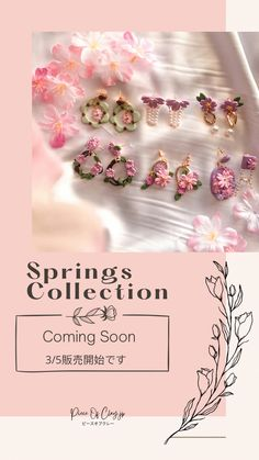 Spring Collection, Designer Earrings, Layout, Page Layout