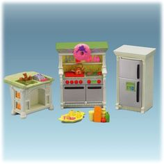 fisher price dollhouse accessories | Fisher-Price Loving Family Dollhouse Kitchen | miniatures dollhouse