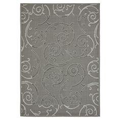 Indoor/outdoor rug. Polypropylene. Black and gray. Made in Turkey. 5.3 X 7.7. $82.95. Joss & Main.