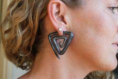 Egyptian Triangles - Gauge or Fake Gauge Earrings via Etsy