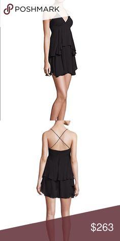 "A.L.C silk tiered dress All silk spaghetti straps crisscross back float tiered silhouette appr 32"" shoulder to hem A.L.C. Dresses Mini"