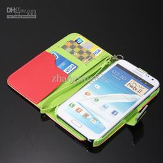 Wholesale For Samsung Galaxy Note 2 N7100 II Colorful Flip Leather Wallet Kick Stand Case Cover, Free shipping, $8.15/Piece   DHgate