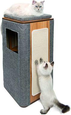 Amazon.com : Vesper Cat Tree, Cubo Cat Tower Stone, 52094 : Pet Supplies Sisal, Vesper Cat Furniture, Cat Tree House, Cat Towers, Cat Friendly Home, Scratching Post, Condo Furniture, Diy Stuffed Animals, Pet Gifts
