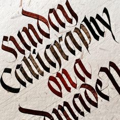 """Calligraphy on a handmade paper. #sachinspiration #calligraphy #instatype…"