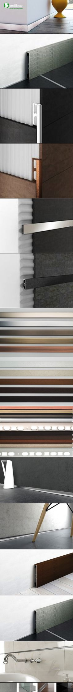 Profilpas Design A new line of profiles and skirting boards Prolist Design  Chromium stainless steel S Design and anodized aluminium X Design, two new finishes for decorative listellos. New colors that allow a wide range of approaches, created for interior designers and architects, based on the latest trends in modern design.