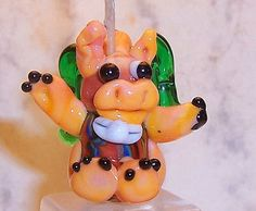 GLASS LAMPWORK DRAGON 1 1/8 inch Tall New