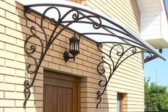 Wonderful Free Wrought Iron awning Strategies Dwelling designing using wrought iron will be as strong now because the wrought iron precious metal itself. Gate Design, Door Design, House Design, Iron Doors, Iron Gates, Wrought Iron Decor, Window Canopy, Grill Design, Iron Furniture