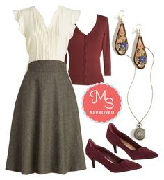 """""""Prim Class Hero Skirt"""" by modcloth ❤ liked on Polyvore featuring Emily and Fin, WorkWear, outfit, modcloth and separates"""