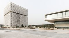 OMA's new headquarters building for the Qatar Foundation in Doha is revealed for the first time in these exclusive photographs