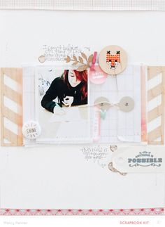 #papercraft #scrapbook #layout Anything is Possible by marcypenner at @Studio_Calico