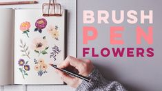 How To Draw Flowers With Brush Pens + Markers Tombow Brush Pen, Brush Pen Art, Brush Markers, Easy Flower Drawings, Flower Drawing Tutorials, Art Tutorials, Painting Tutorials, Doodle Learn, Peony Drawing