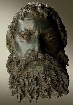 A lifelike bronze head of Ancient Thracian Odryssian King Seuthes III discovered near Seuthopolis, Bulgaria / The Saga of the Thracian Kings, Louvre Museum
