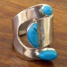 @Overstock - Turquoise attitude ringSilver jewelryAdjust to fit different size fingershttp://www.overstock.com/Worldstock-Fair-Trade/Handcrafted-Silver-Turquoise-Attitude-Ring-Mexico/5191699/product.html?CID=214117 $19.90