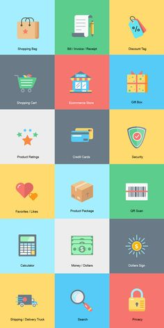 20+ Free E-Commerce Icon Sets to Download - Hongkiat