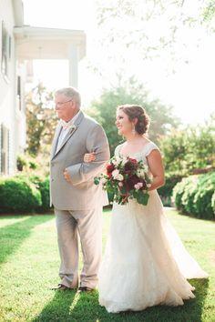 Traditional Southern Wedding in North Carolina featuring a designer wedding dress by Martina Liana Burgundy Bridesmaid Dresses, Designer Wedding Dresses, North Carolina, Southern, Fancy, Traditional, Photography, Fashion, Moda