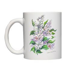 Kubek z bzami, fajny prezent np. dla mamy, babci lub miłośników kwiatów.
