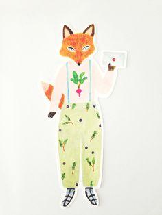 ai. by Aiko Fukawa Die-cut Card - Fox