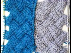 Entrelac Knitting Patterns ( without Turning Work) _ Узор Плетенка или Энтерлак Knitting Daily, Beginner Knitting Patterns, Knitting Stiches, Circular Knitting Needles, Knitting Videos, Knit Patterns, Knitting Projects, Crochet Stitches, Baby Knitting
