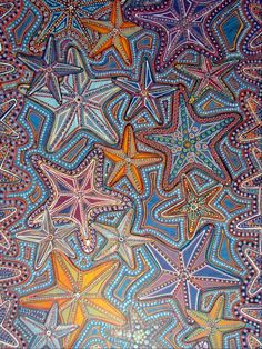 Complex Yet Beautiful Aboriginal Art Examples: Art is not something that happened in one era and that too when human beings were in a position where their Aboriginal Dot Painting, Aboriginal Patterns, Kunst Der Aborigines, Cult, Australian Art, Indigenous Art, Native Art, Textures Patterns, Art Patterns