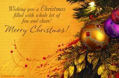 wishing you a merry christmas message