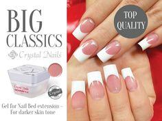 #pink #nailbed #nails #gelnails #crystalnails