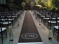 awesome aisle! very contemporary!..love the black instead of traditional white