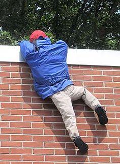 wall climbing scarecrow