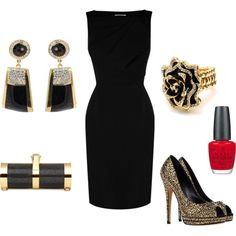 """""""Black And Gold Glitter"""" by jessl1117 on Polyvore"""