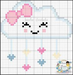 This Pin was discovered by Embroidery Ideas. Discover (and save!) your own Pins. Cross Stitch For Kids, Cross Stitch Borders, Cross Stitch Baby, Modern Cross Stitch, Cross Stitching, Cross Stitch Embroidery, Cross Stitch Patterns, Loom Patterns, Hand Embroidery