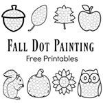 These fall dot painting worksheets are a quick mess free painting activity for your kids Our kids love using their doadotart markers to fill in the circles Follow the link in profile to print these worksheets PS We also have Halloween