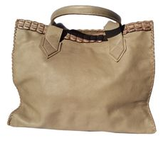 Genuine Leather Hand Stitched Shopper with Croc trim by Created in Eden Hand Stitching, Crocs, Brand New, Create, Leather