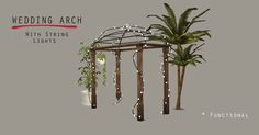 • Arch - Functional as wedding arch - 1636 poly - 10 swatches  • String Light For Arch - 5866 poly - 5 swatches - High Poly  Download