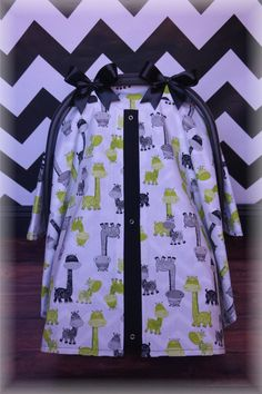 Lime Green n Black Giraffe Canopy