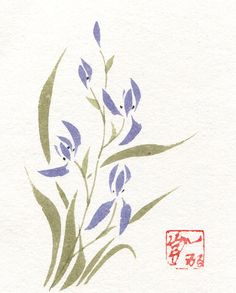 Hey, I found this really awesome Etsy listing at https://www.etsy.com/listing/197534542/purple-orchid-original-watercolor-and