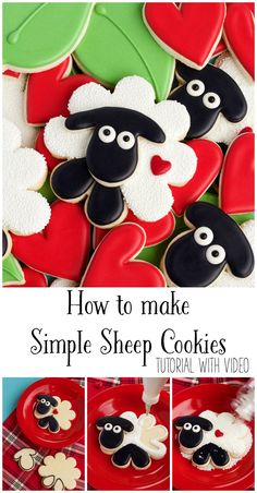 How to Make Simple Sheep Cookies Tutorial with Video | The Bearfoot Baker