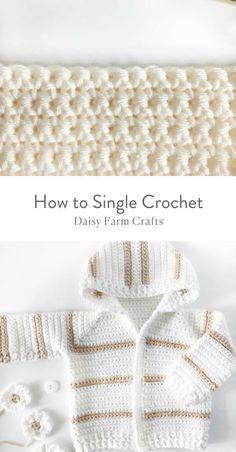 How to Single Crochet #moderncrochet #freecrochetpattern